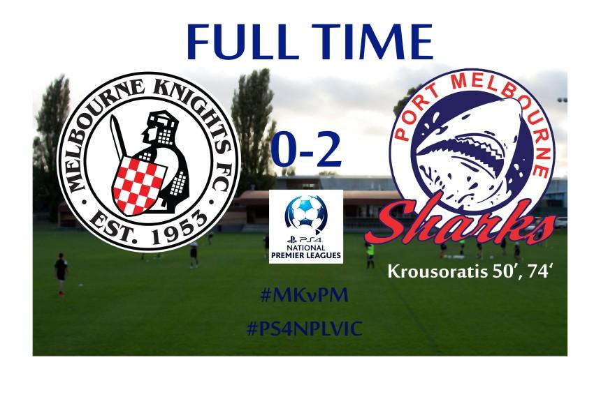 Melbourne Knights v Port Melbourne full time