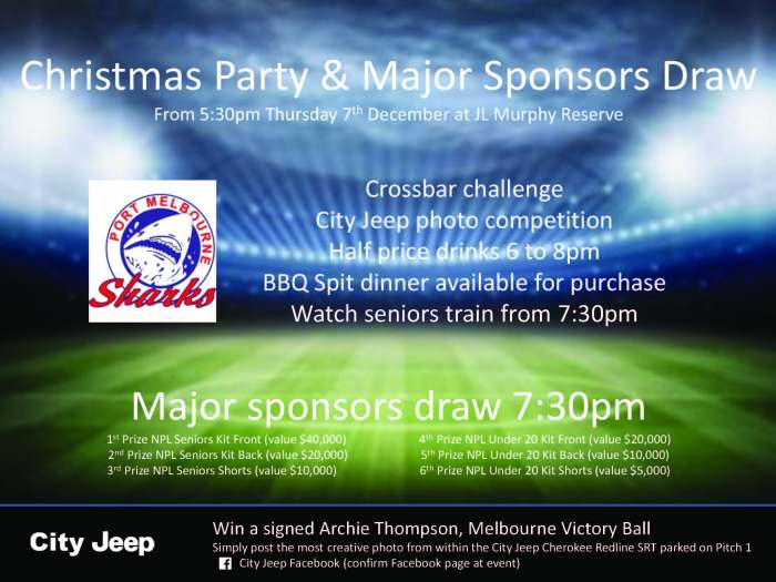 PMSC Christmas Party - Major Sponsors Raffle_2017-12-07