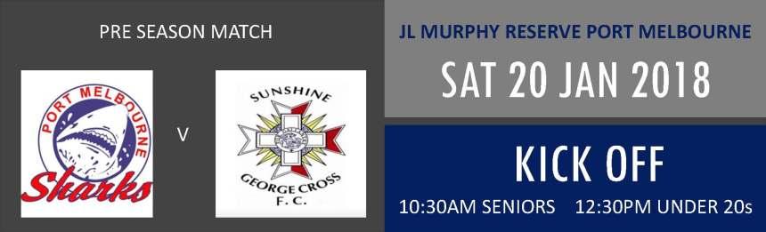 20 Jan 2018_Sunshine George Cross FC pre season match banner - Existing Logo