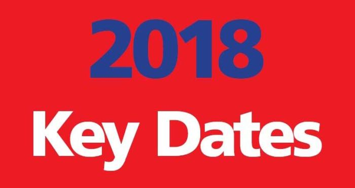 2018 Key Dates