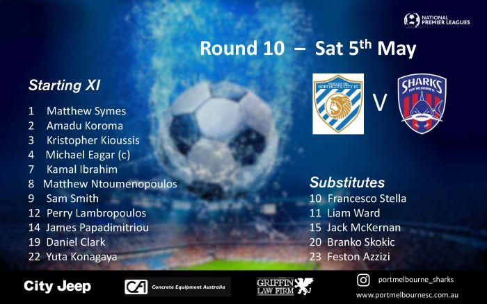 Round 10_Northcote City FC - Senior Squad - Starting Line-up_180505