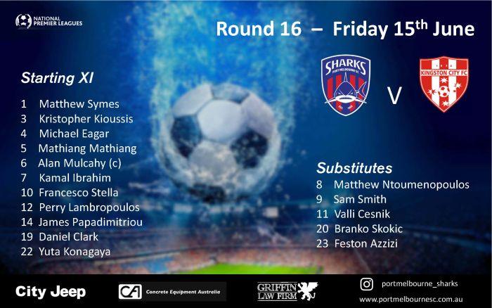 Round 16_Kingston City FC - Senior Squad - Starting Line-up_180615