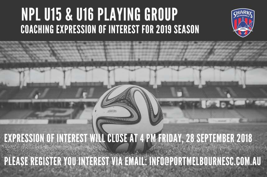 Coaching U15 and U16 Expression of Interest 2019 Season_180914