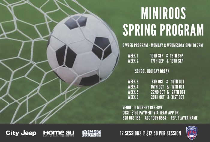 MiniRoos Spring Program 2018