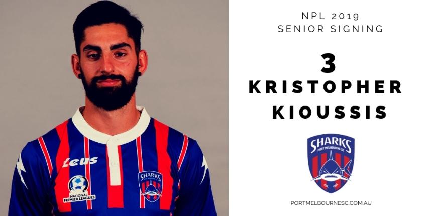 Kristopher Kioussis 2019 Signing