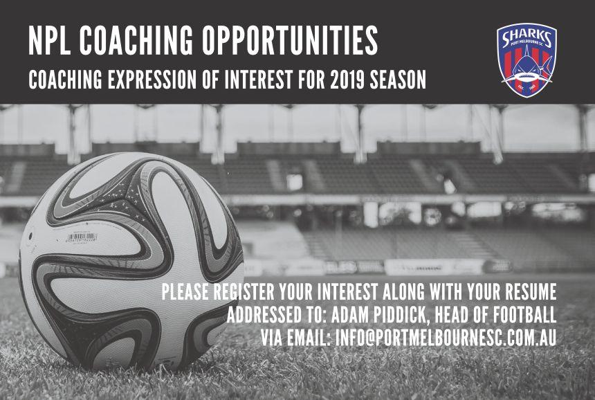 NPL Coaching 2019 Season