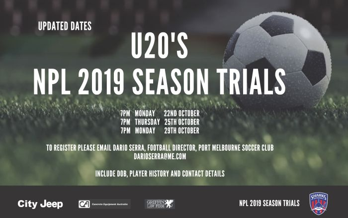 U20 Trial Dates