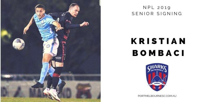 Kristian Bombaci 2019 Signing