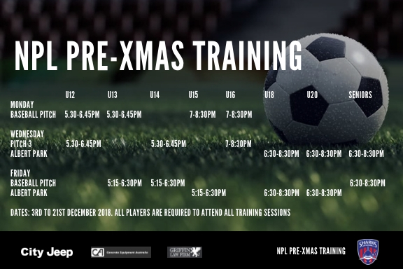 NPL Pre-Xmas Training 2018_updated