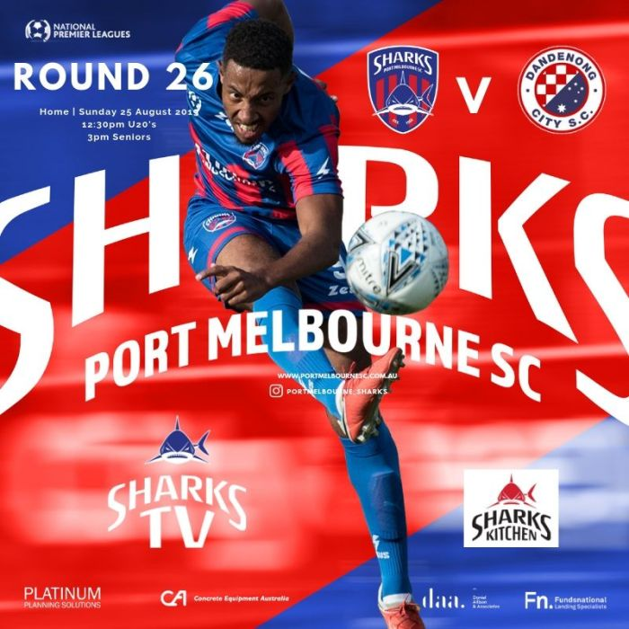 Round 26_Dandenong City_Poster_190825