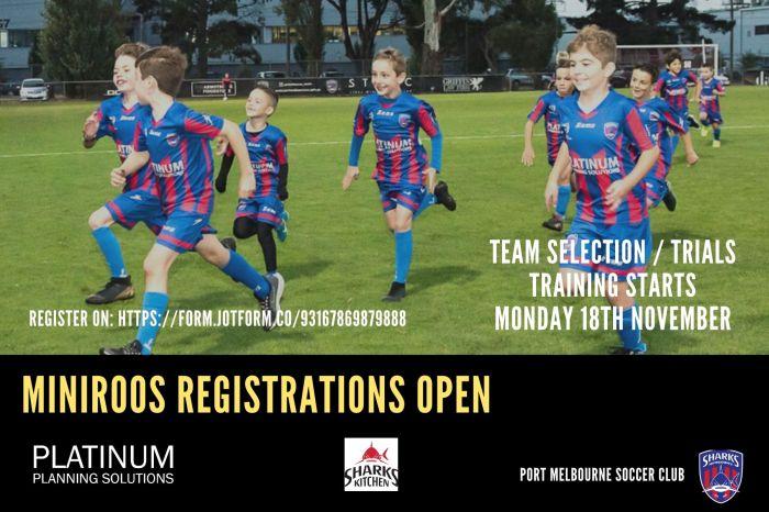 MiniRoos Registration 2020 season