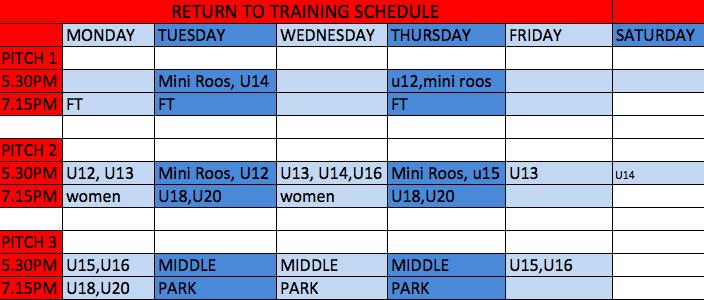 MiniRoos Schedule